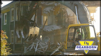 Commercial demolition and excavation services southern Maine Dearborn Construction