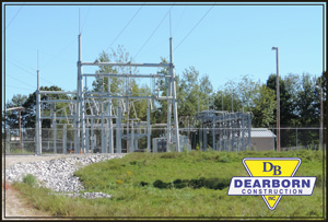 CMP Substation after construction