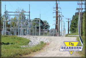 CMP Substation and access road after construction