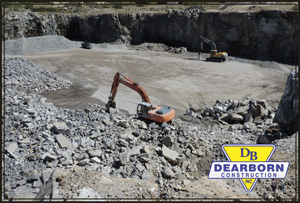 Activity at K-pit gravel pit Dearborn Construction