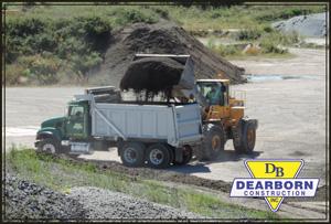 Dearborn Construction Loader Loading Dump Truck