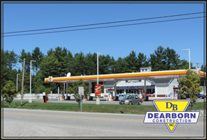 Shell Station after construction - Hollis Maine
