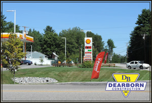 Shell Station & site drainage after construction - Hollis Maine